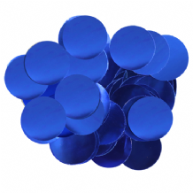 Metallic Blue Foil Confetti | 25mm Metallic Round | 50g Bag